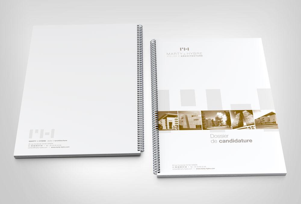 Marty & Hybre architecture _ Couverture dossier de candidature